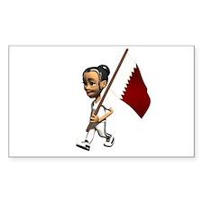 Qatar Girl Rectangle Decal