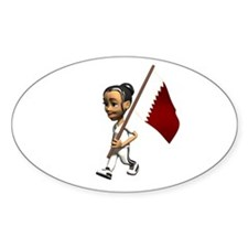 Qatar Girl Oval Decal