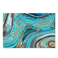 rustic turquoise swirls Postcards (Package of 8)