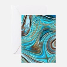 rustic turquoise swirls Greeting Cards