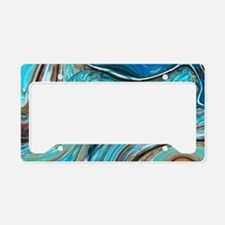 rustic turquoise swirls License Plate Holder