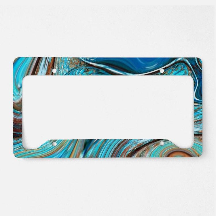 rustic turquoise swirls License Plate Holder