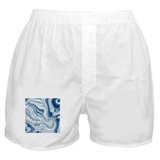 navy blue swirls Boxer Shorts