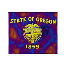 Oregon State Flag Throw Blanket