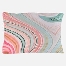 girly coral mint pattern Pillow Case