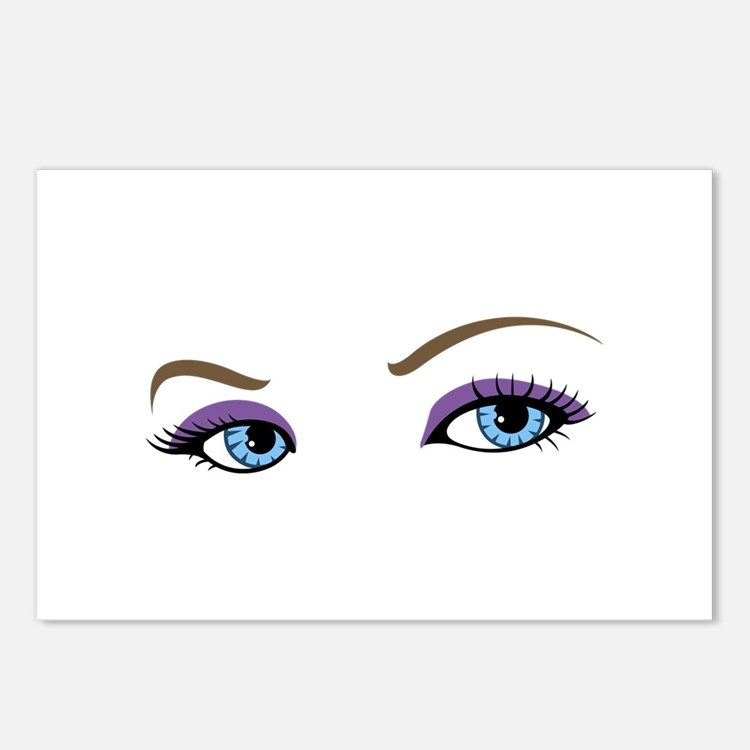 WOMANS EYES Postcards (Package of 8)