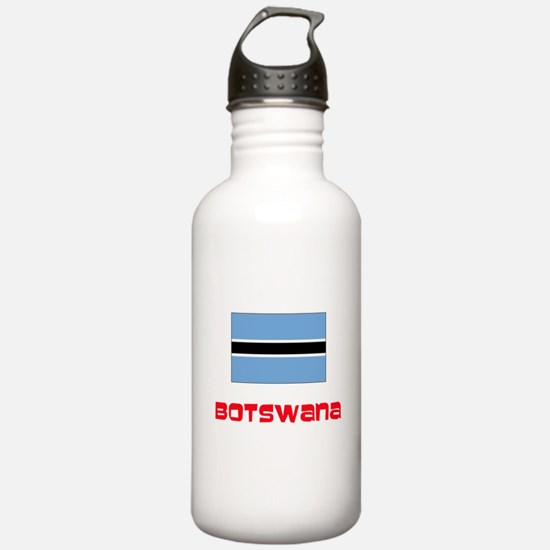 Botswana Flag Retro Re Water Bottle