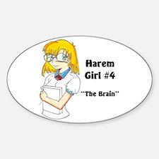 Harem Girl #4 - The Brain Oval Decal