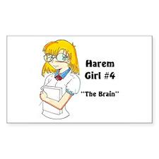 Harem Girl #4 - The Brain Rectangle Decal