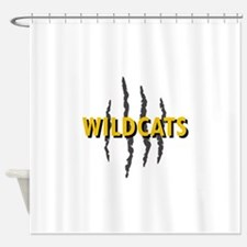 WILDCATS CLAW MARKS Shower Curtain