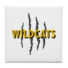WILDCATS CLAW MARKS Tile Coaster