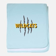 WILDCATS CLAW MARKS baby blanket