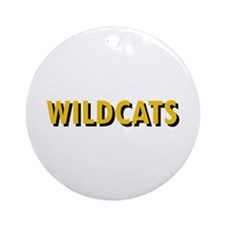 WILDCATS TEXT Ornament (Round)