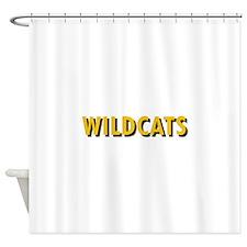 WILDCATS TEXT Shower Curtain