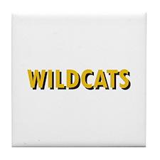 WILDCATS TEXT Tile Coaster