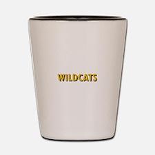 WILDCATS TEXT Shot Glass