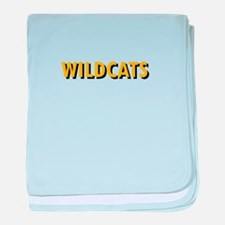 WILDCATS TEXT baby blanket