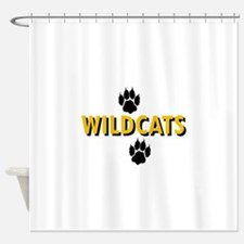 WILDCATS AND PAWS Shower Curtain