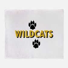 WILDCATS AND PAWS Throw Blanket