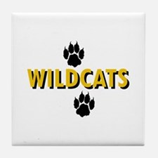 WILDCATS AND PAWS Tile Coaster