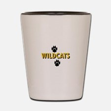 WILDCATS AND PAWS Shot Glass