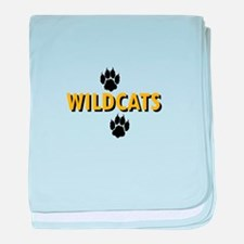 WILDCATS AND PAWS baby blanket