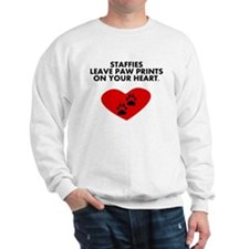 Staffies Leave Paw Prints On Your Heart Jumper