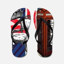 telephone booth london fashion Flip Flops