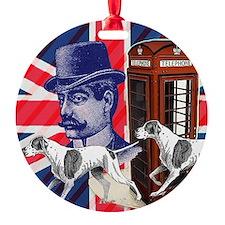 british flag telephone booth Ornament