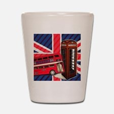 telephone booth london bus Shot Glass