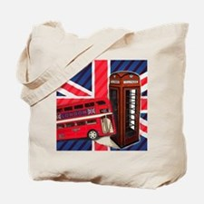 telephone booth london bus Tote Bag