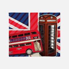 telephone booth london bus Throw Blanket