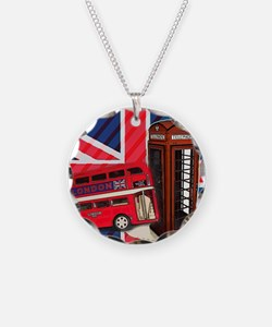 telephone booth london bus Necklace