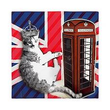 modern london fashion cat Queen Duvet