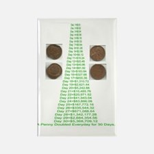 A Penny Doubled Everyday for 30da Rectangle Magnet