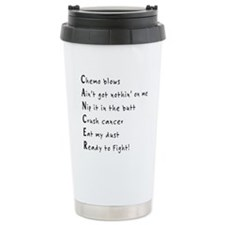 Take a bite out of cancer Travel Mug