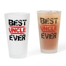 best uncle ever black and red grung Drinking Glass