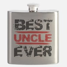best uncle ever black and red grunge text de Flask