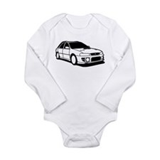 Cute Subarus Long Sleeve Infant Bodysuit