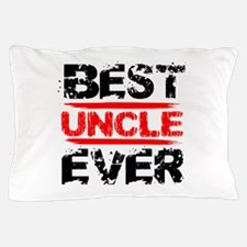 best uncle ever black and red grunge t Pillow Case