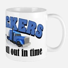 Truckers Pull Out in Time Mug
