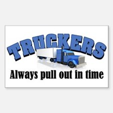 Truckers Pull Out in Time Decal