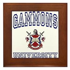 GAMMONS University Framed Tile