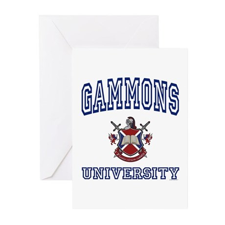 GAMMONS University Greeting Cards (Pk of 10)