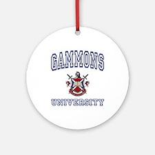 GAMMONS University Ornament (Round)