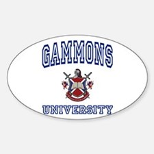 GAMMONS University Oval Decal