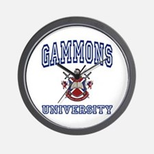 GAMMONS University Wall Clock