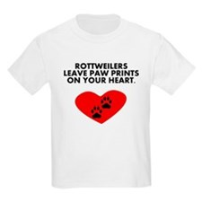 Rottweilers Leave Paw Prints On Your Heart T-Shirt