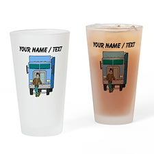 Truck Driver (Custom) Drinking Glass