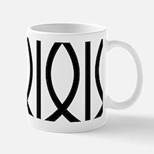 Lattice Black White Mug